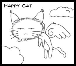 Happy Flying Cat